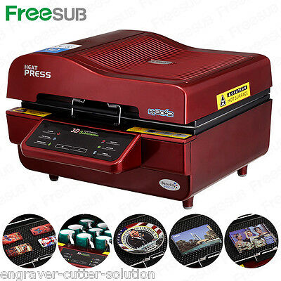 AU613.90 • Buy 110V 3D Sublimation Heat Press Machine Transfer For Phone Cases Mugs Cups