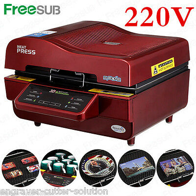 AU613.65 • Buy 220V 3D Sublimation Heat Press Machine For Phone Cases Mugs Cups Heat Transfer