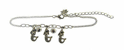 £1.99 • Buy Holiday Ankle Mermaid Chain Anklet With Bell Charm ( Kc)