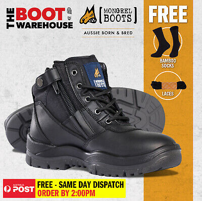 AU136.95 • Buy Mongrel Work Boots 961020, Soft Toe, Non Safety, Brand New Zip Sider. FREE SOCKS