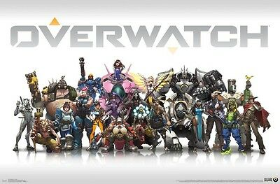AU13.73 • Buy OVERWATCH - CHARACTER COLLAGE POSTER - 22x34 VIDEO GAME 15789