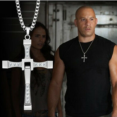 $6.99 • Buy Cross Pendant Necklace For Man Christian Presents Gifts Gold Silver Him Jewelry