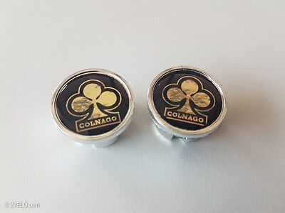 $9.80 • Buy Vintage Style COLNAGO Black/gold Handlebar End Plugs