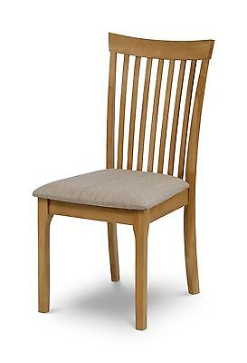 £79.99 • Buy Julian Bowen Ibsen Light Oak Solid Wood Dining Chair With Padded Fabric Seat