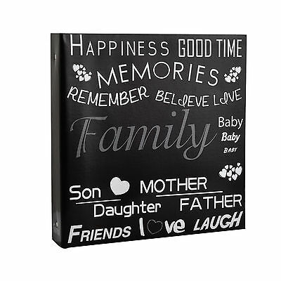 Large Black Text Cover Ring Binder Photo Album For 500 Photos 4 X 6'' • 15.99£