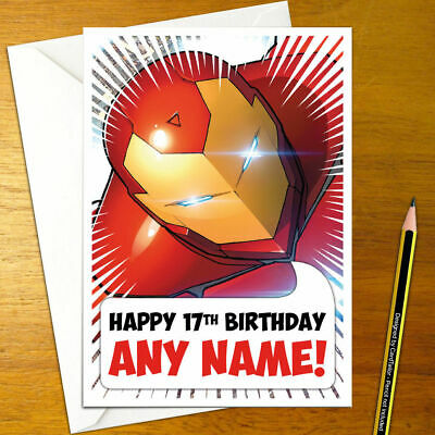 IRON MAN Personalised Birthday Card - A5 The Invincible Super Hero Comic Comics  • 3.65£