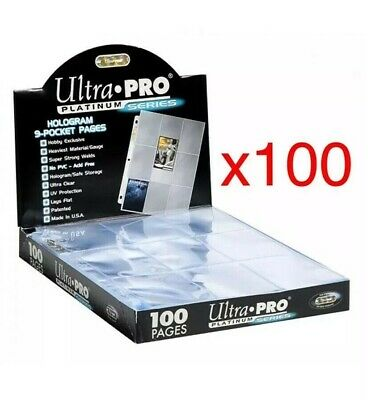 AU47.85 • Buy 100 X ULTRA PRO PLATINUM TRADING CARD 9 POCKET Sleeves Pages NBA  AFL MTG NRL