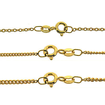 9CT Gold Plated Long Curb & Trace Chains Necklace 14 18 20 22 24 32 40  Inch  • 9.45£