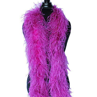 £54.29 • Buy Berry 4ply Ostrich Feather Boa Scarf Prom Halloween Costumes Dance Decor