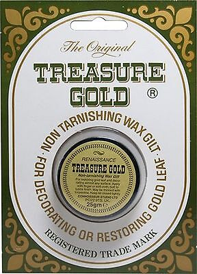 Original Treasure Metallic Gilding Wax - Frames Furniture 25g RENAISSANCE GOLD. • 24.99£