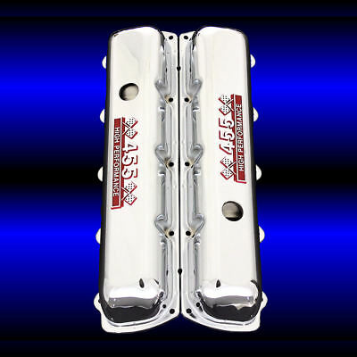 AU90.09 • Buy Chrome Valve Covers For 455 Oldsmobile Engines 455 HP Emblems Olds