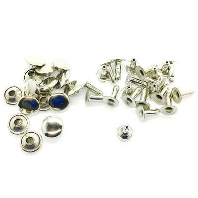 100 Sets Single Sided Rivet Studs Brass Rust Proof For Leather-crafts 8 To 10mm • 3.69£
