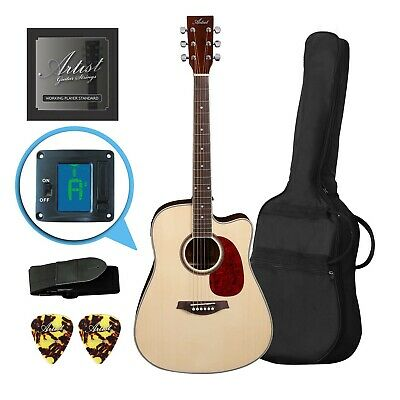 AU169 • Buy Artist LSPCNT Beginner Acoustic Guitar Pack With Cutaway - New