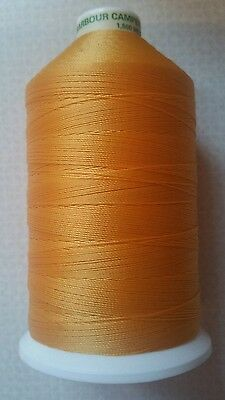 25m STRONG LEATHER SEWING THREAD 0.6mm BONDED SEATBELT YELLOW M13 COATS BARBOUR • 2.49£