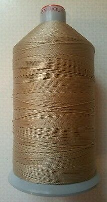 50M STRONG LEATHER SEWING THREAD 0.6mm BONDED SEATBELT BEIGE M13 COATS BARBOUR • 3.99£
