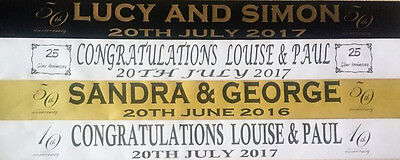 Personalised  Wedding Anniversary, Engagement Banners Party Decorations Free P&p • 2.95£