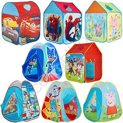 Kids Pop Up Play Tents Wendy House - Toy Story Pj Masks Peppa Pig & More • 24.99£