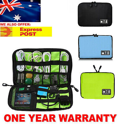AU8.99 • Buy Travel Electronics Cord Organizer Case Gadget Bag Disk Cable Cords Storage Case
