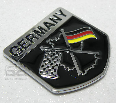 £4.95 • Buy German Flag Racing Car Badge Gti Rs4 Bmw 3 5 Series Classic Chequered Race Boy
