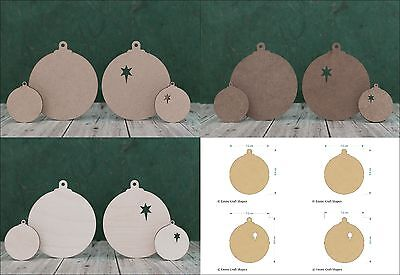 Wooden Christmas Bauble Blank Shape, Craft Tag And Cutout For Xmas Decoration • 2.81£