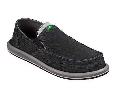 Sanuk Pick Pocket Men's Sidewalk Surfer Slip-on Loafer Denim Black Medium (D, M) • 39.98£