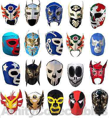 MEXICAN WRESTLING MASK [Mixed Styles] Halloween, Costume, Masks, Lucha Libre • 11.99£