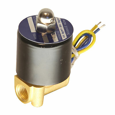 $10.99 • Buy HFS(R) 12V Dc 1/4  Electric Solenoid Valve Water Air Gas, Fuels N/C - Brass
