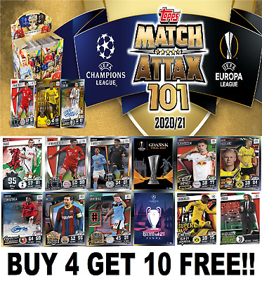 £1.99 • Buy TOPPS Match Attax 101 (2020-21) 2021 BUY 4 GET 10 FREE  Base Cards #1-128