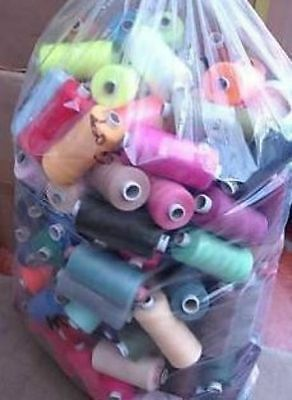 25 X 1000 Yards POLYESTER THREAD - MIXED/ASSORTED PACK OF 25 THREADS • 11.25£