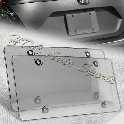 $7.99 • Buy 2 X Tinted Clear/Smoke Protector License Plate Frame Shield Cover Front & Rear