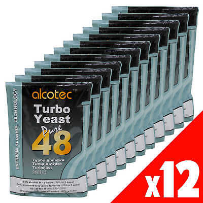 AU95.60 • Buy Alcotec 48 Hour Turbo Super Yeast X12 Home Brew Spirit 25 Litres In 48 Hours