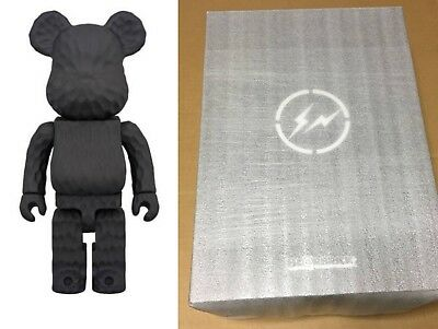 $3998 • Buy BE@RBRICK Fragmentdesign Karimoku Carved Wooden 400% Black MEDICOM Fragment