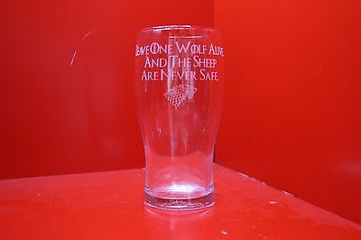 £12 • Buy Leave One Wolf Alive And The Sheep Are Never Safe Pint Glass Game Of Thrones