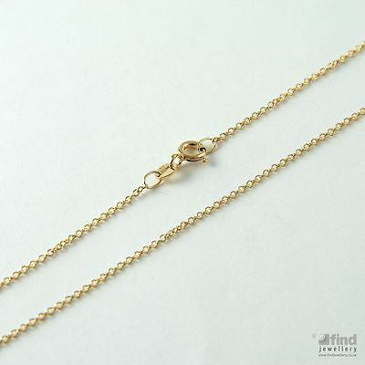 Ladies / Womens Solid 9ct Gold Pendant 20 Inch Fine Trace Chain 1.6g • 84.85£