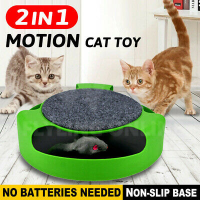 AU14.95 • Buy Motion Kitten Cat Toy Catch The Rotating Mouse Chase Interactive Training Funny