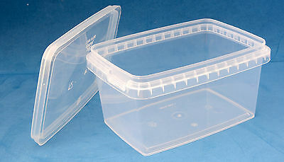 580ml Clear Plastic Tamper Proof Tubs/Containers With Lids (1-50 Multi Listing) • 23.90£
