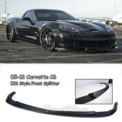For 05-13 Chevrolet Corvette C6 Z06 ZR1 Style Front Lip Kit Splitter Bumper ABS • 164.99$
