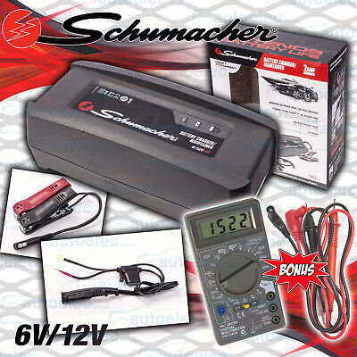 AU59 • Buy Schumacher 2A AMP 6 & 12V Volt Smart Battery Maintainer Charger + Projecta Meter