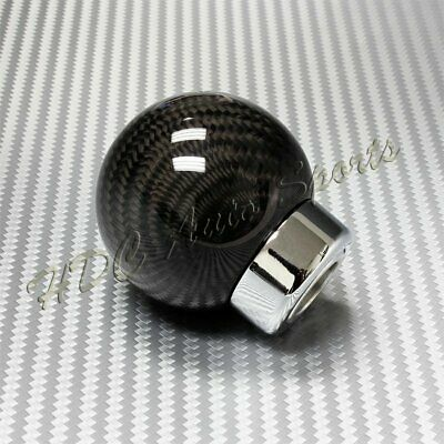 $16.99 • Buy Real Carbon Fiber Ball Manual Transmission Gear Shift Shifter Knob Universal