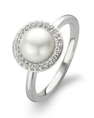 £50 • Buy New Genuine Ti Sento Sterling Silver Pearl And CZ Set Ring 12014PW Size 56 £65