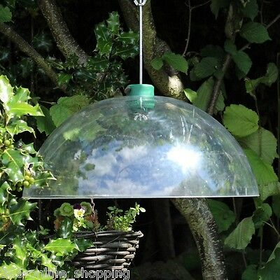 £14.99 • Buy Large Clear Squirrel Proof Baffle Bird Feeder Protection Shelter Dome Feeding