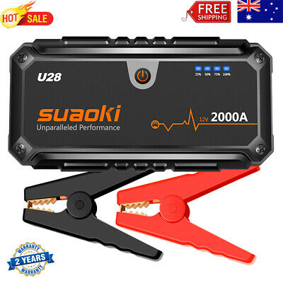 AU189.99 • Buy Suaoki U28 2000A Car Jump Starter Battery Charger Booster USB Power Bank Clamps
