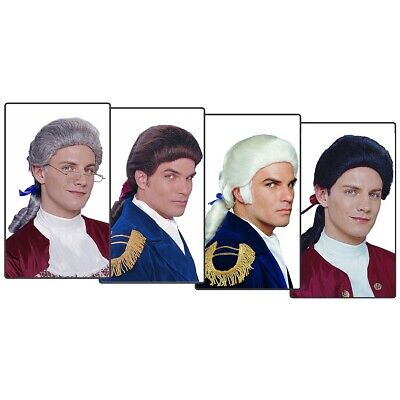 $18.59 • Buy Colonial Wig For Adult Mens 18th Century Costumes Fancy Dress