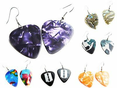 £1.99 • Buy Guitar Pick Earrings, Plectrums, Music, Quirky, Funky, Kitsch, NEW, Pink, Blue,