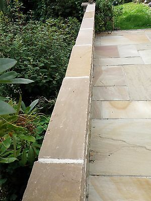 Raj Green Indian Sandstone Wall Copings 600x290 2 Brick Wide Nationwide Del • 5.99£