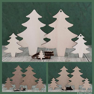 £2.38 • Buy Wooden Christmas Tree Shape, Craft Blank, Mdf Or Plywood Xmas Cutout To Decorate