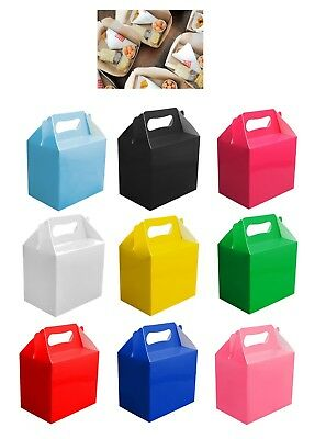 £3.29 • Buy 10 Childrens Kids Party Lunch Boxes Colour Birthday Wedding Meal Food Loot Bag