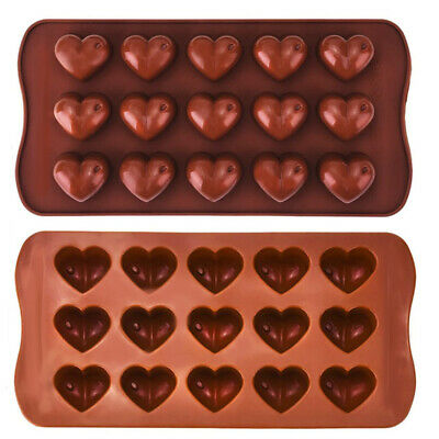 Wax Melt Mould Silicone 15 Love Hearts Chocolate Soap Mold Baking • 3.49£