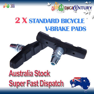 AU6.99 • Buy 2 X STANDARD Bicycle V-BRAKE PADS For Hybrid / Comfort / Mountain Bikes
