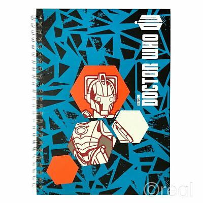 New Doctor Who Worlds In Time Cyberman Notebook Note Pad School Book Official • 6.07£